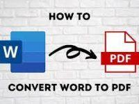 पी डी एफ फाइल कैसे बनाये